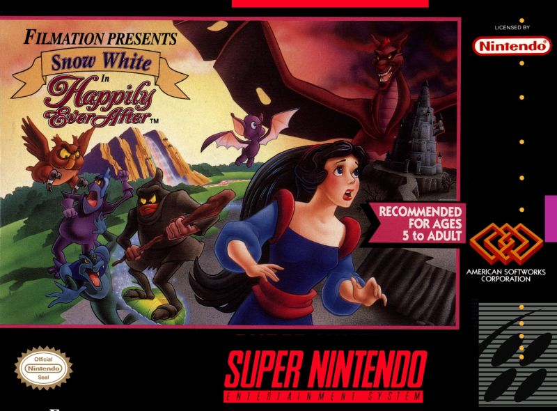 Snow White in Happily Ever After SNES Front Cover
