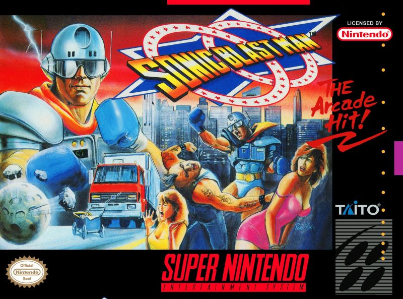 Sonic Blast Man SNES Front Cover
