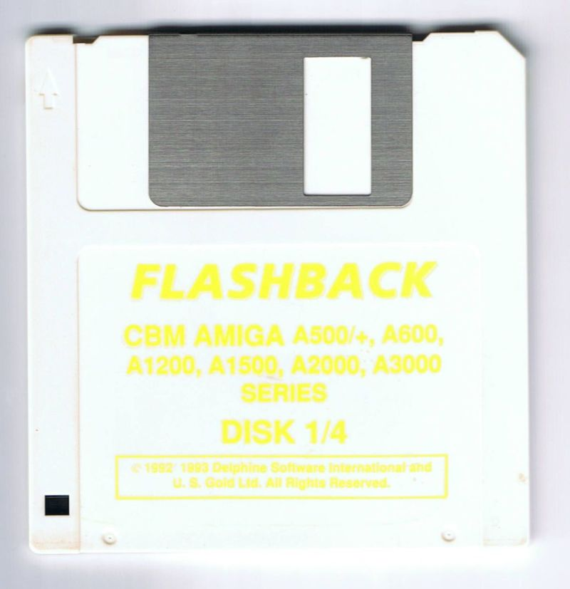 Flashback: The Quest for Identity Amiga Media The game was also released on white discs