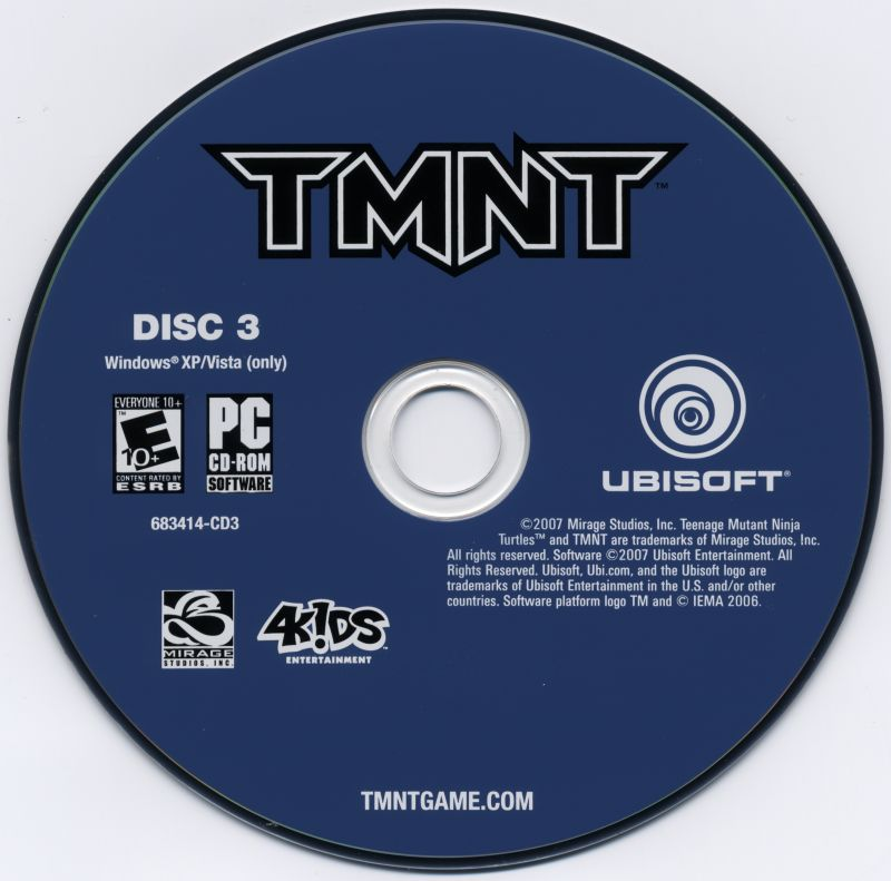 TMNT Windows Media Disc 3