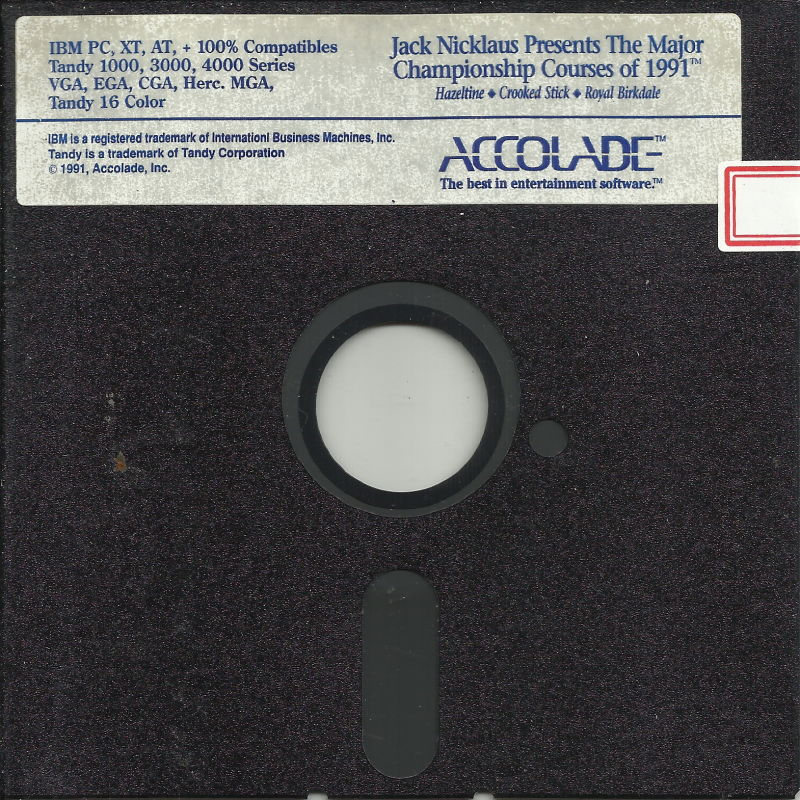 Jack Nicklaus presents The Major Championship Courses of 1991 DOS Media Disk (1/1)