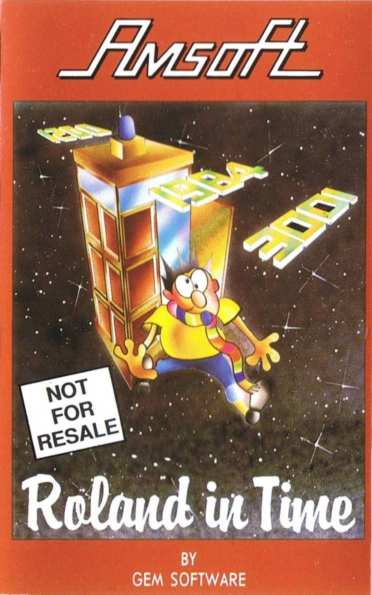 Roland in Time Amstrad CPC Front Cover