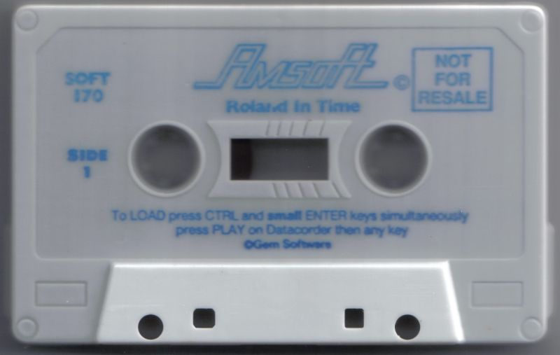 Roland in Time Amstrad CPC Media