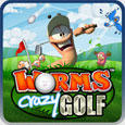 Worms Crazy Golf PlayStation 3 Front Cover