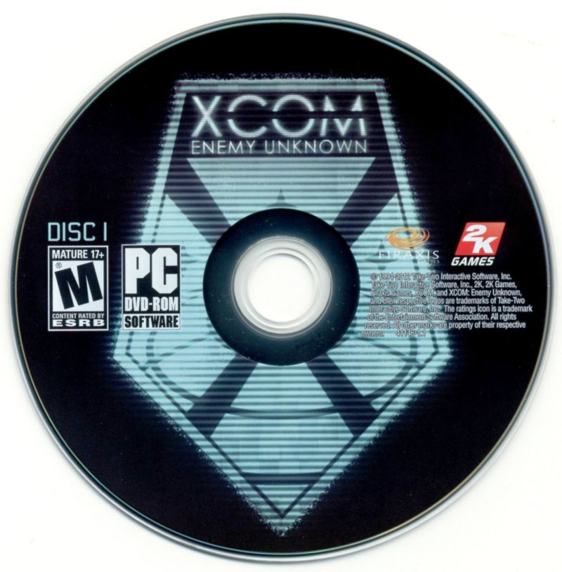 XCOM: Enemy Unknown (Special Edition) Windows Media Disc 1