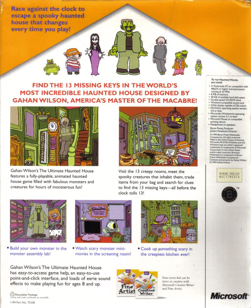 Haunted House Browser Game: Gahan Wilson's The Ultimate Haunted House (1994) Macintosh