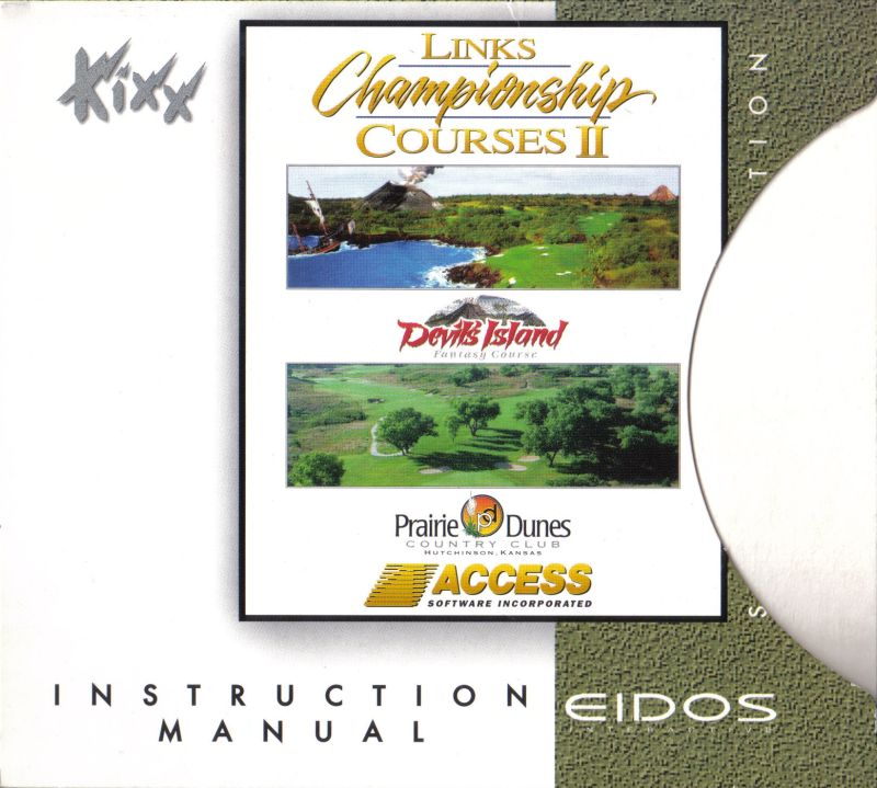 Links Championship Courses II DOS Inside Cover Right: this side holds the game instructions