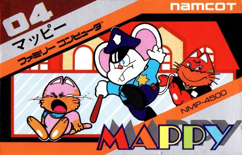 Mappy NES Front Cover