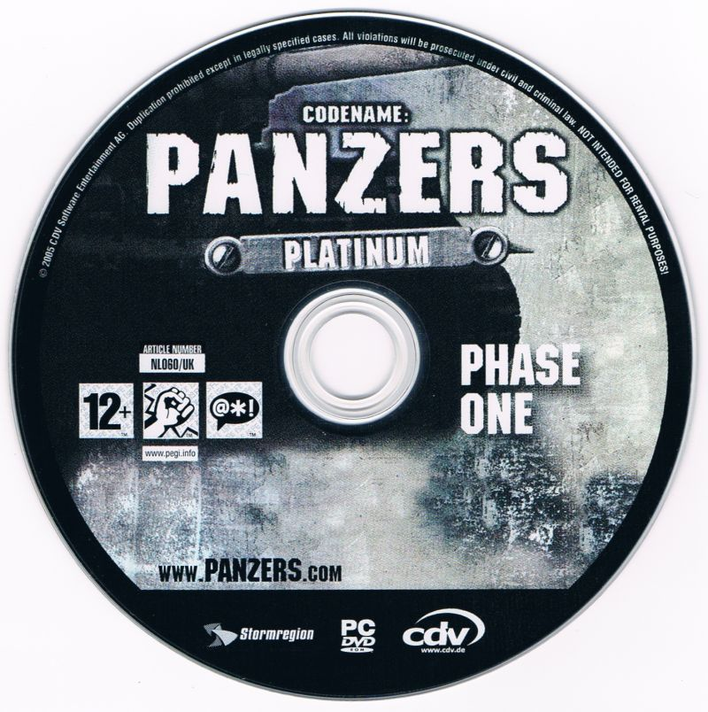 Codename: Panzers - Platinum: Phase One + Phase Two Windows Media Phase One disc
