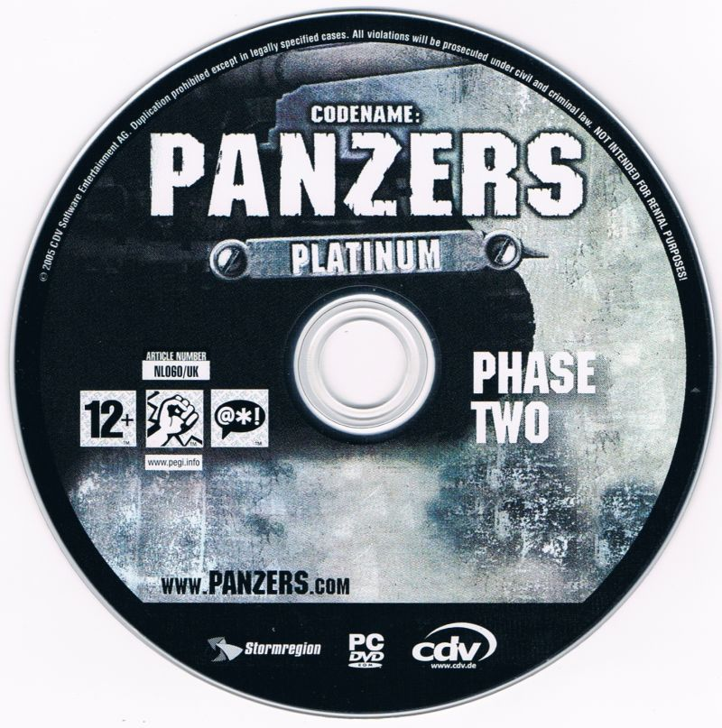 Codename: Panzers - Platinum: Phase One + Phase Two Windows Media Phase Two disc