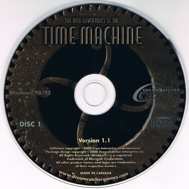 2 for 1: The Mystery of the Nautilus / The New Adventures of the Time Machine Windows Media The New Adventures of the Time Machine disc 1/2