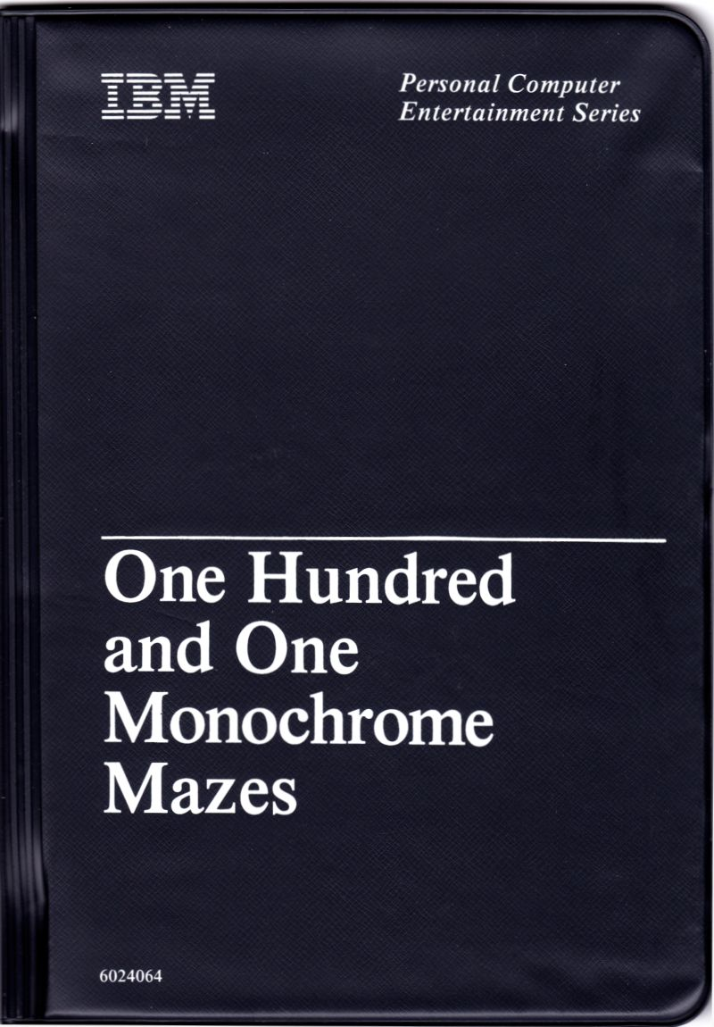 One Hundred and One Monochrome Mazes DOS Front Cover