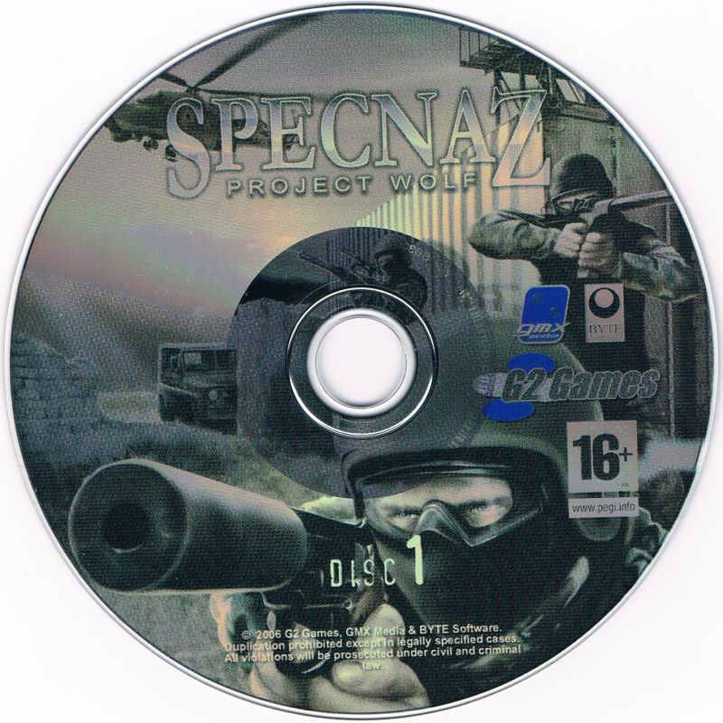 Specnaz: Project Wolf Windows Media CD 1/2