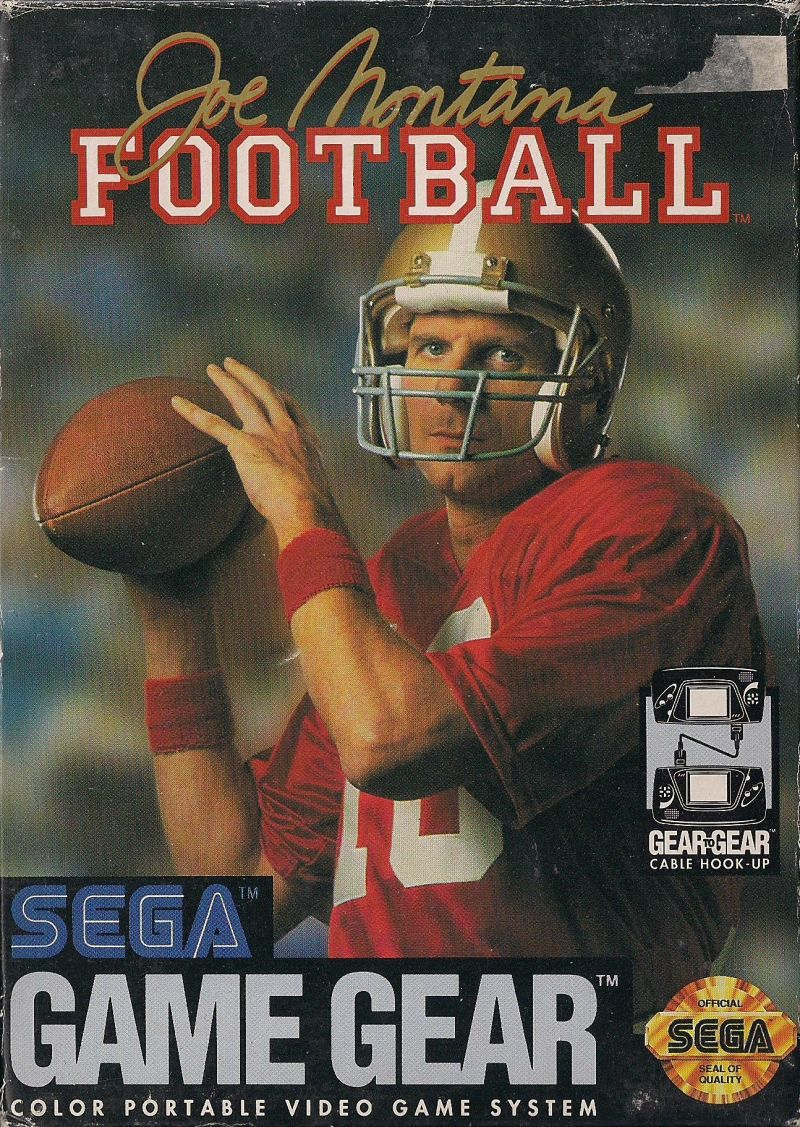 Joe Montana Football Game Gear Front Cover