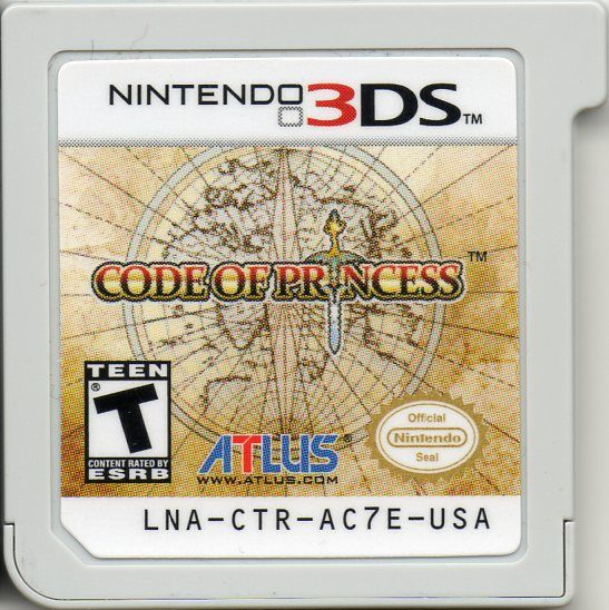 Code of Princess Nintendo 3DS Media Game Card