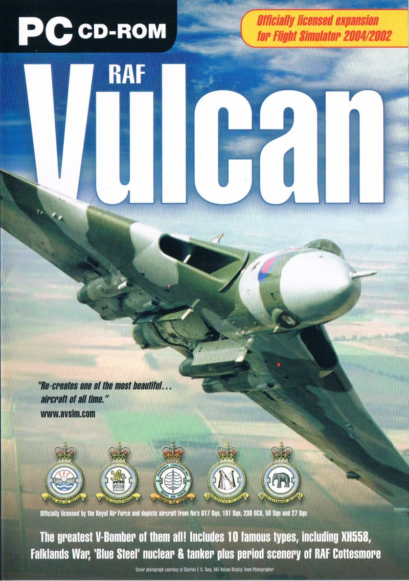 RAF Vulcan Windows Front Cover