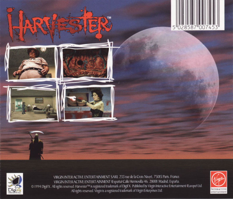 Harvester DOS Other Jewel Case - Back