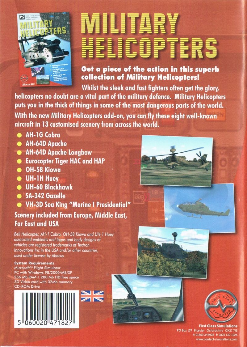 Military Helicopters Windows Back Cover UK