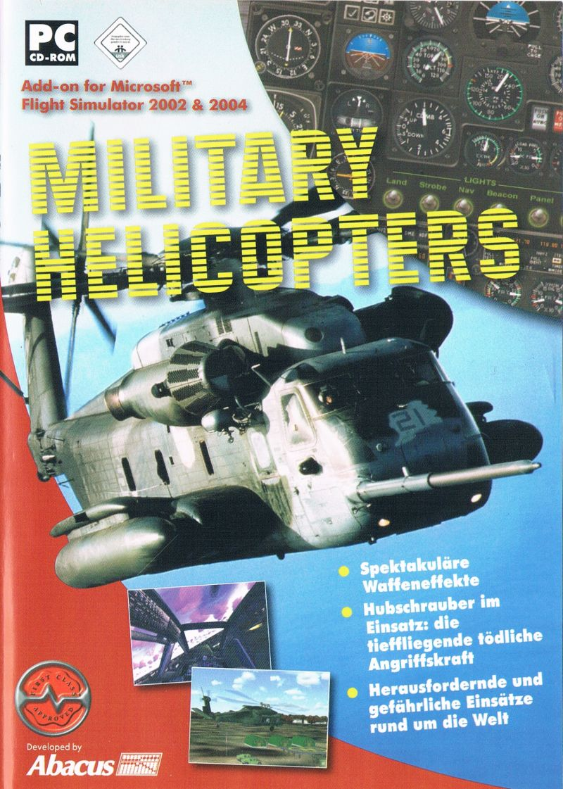 Military Helicopters Windows Front Cover DE