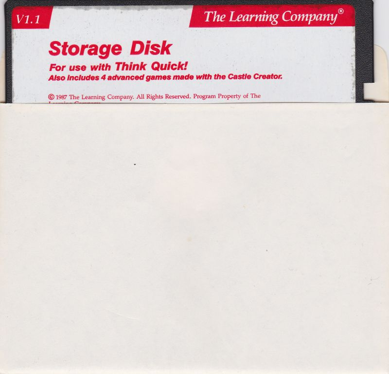 Think Quick! Apple II Media Storage disk
