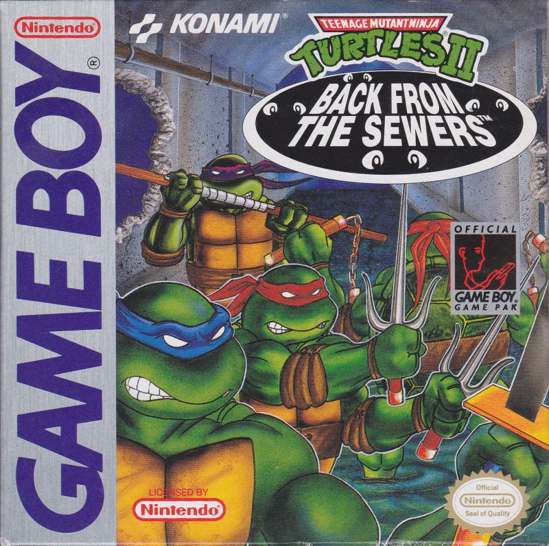 Teenage Mutant Ninja Turtles II:  Back from the Sewers Game Boy Front Cover