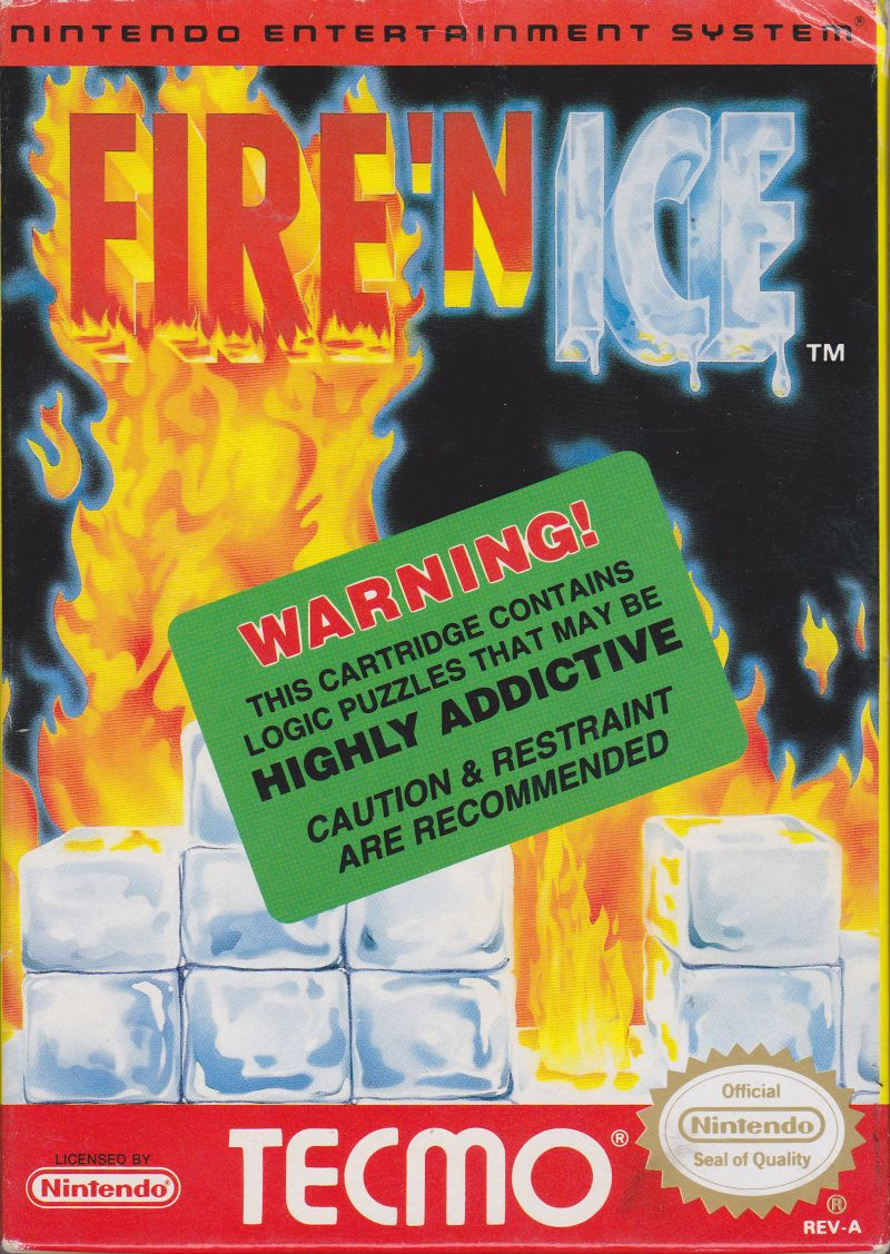 Fire 'n Ice NES Front Cover