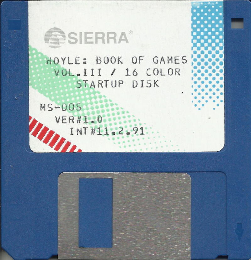 "Hoyle Official Book of Games: Volume 3 DOS Media 3.5"" Startup Disk (16 color)"