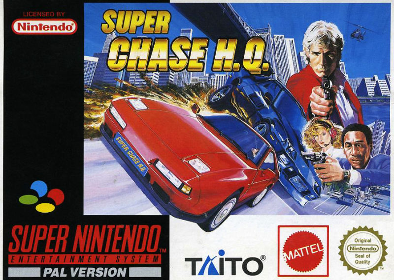 Super Chase H.Q. SNES Front Cover