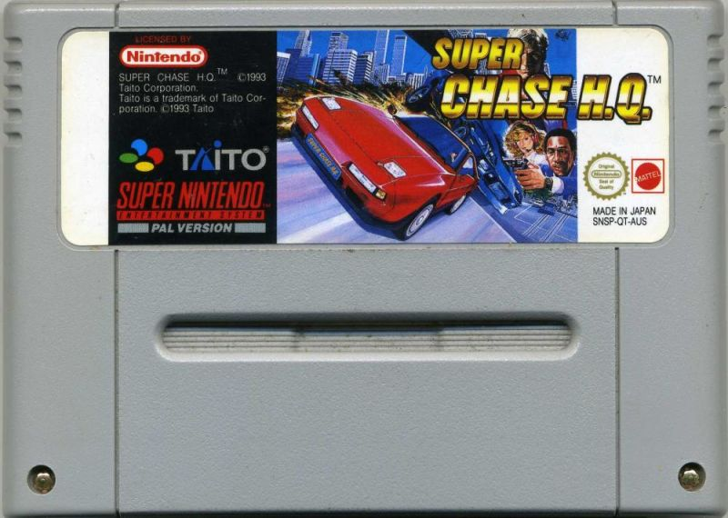 Super Chase H.Q. SNES Media