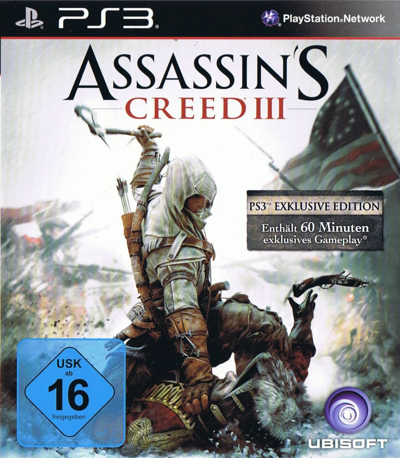 Assassin's Creed III PlayStation 3 Front Cover