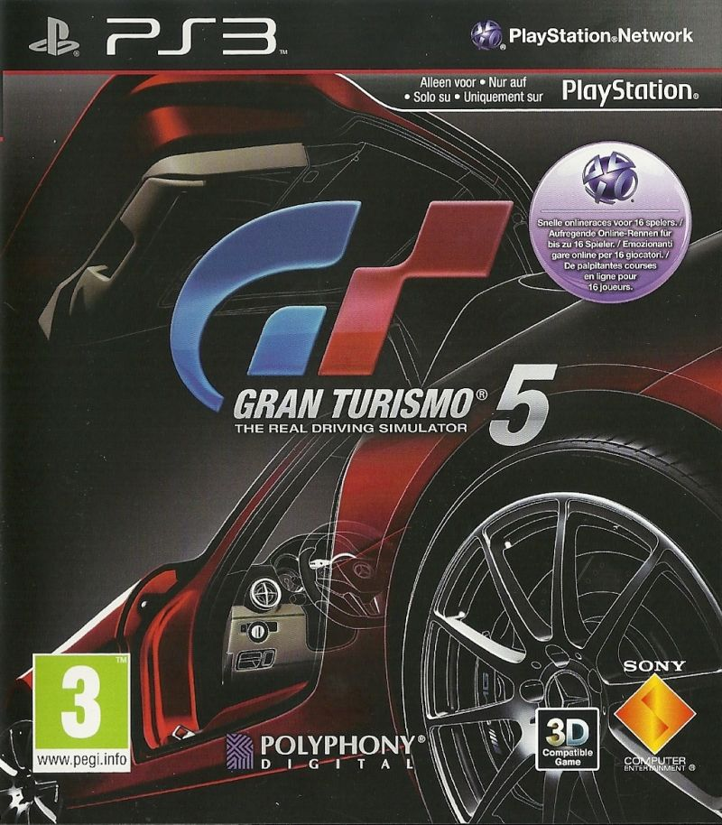 Gran Turismo 5 PlayStation 3 Front Cover