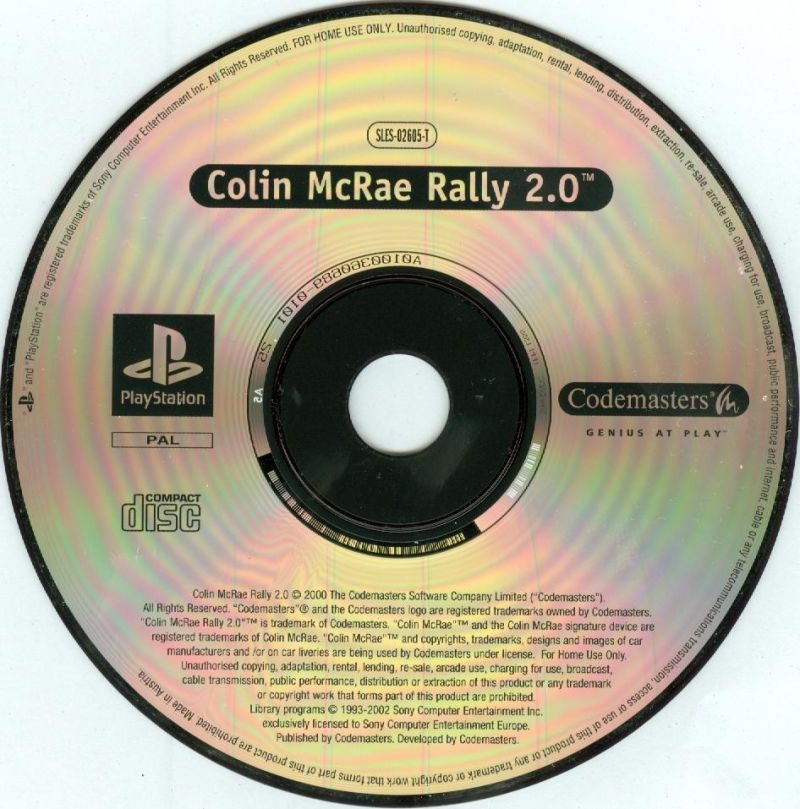 Colin McRae Rally 2.0 / No Fear Downhill Mountain Biking PlayStation Media <i>Colin McRae Rally 2.0</i> disc