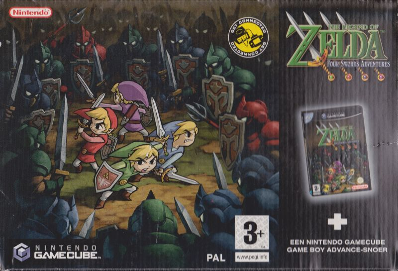 The Legend of Zelda: Four Swords Adventures GameCube Front Cover