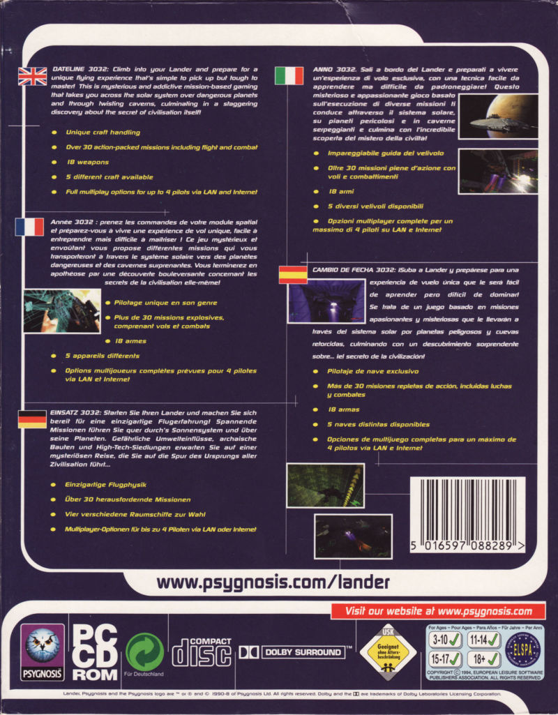 Lander Windows Back Cover