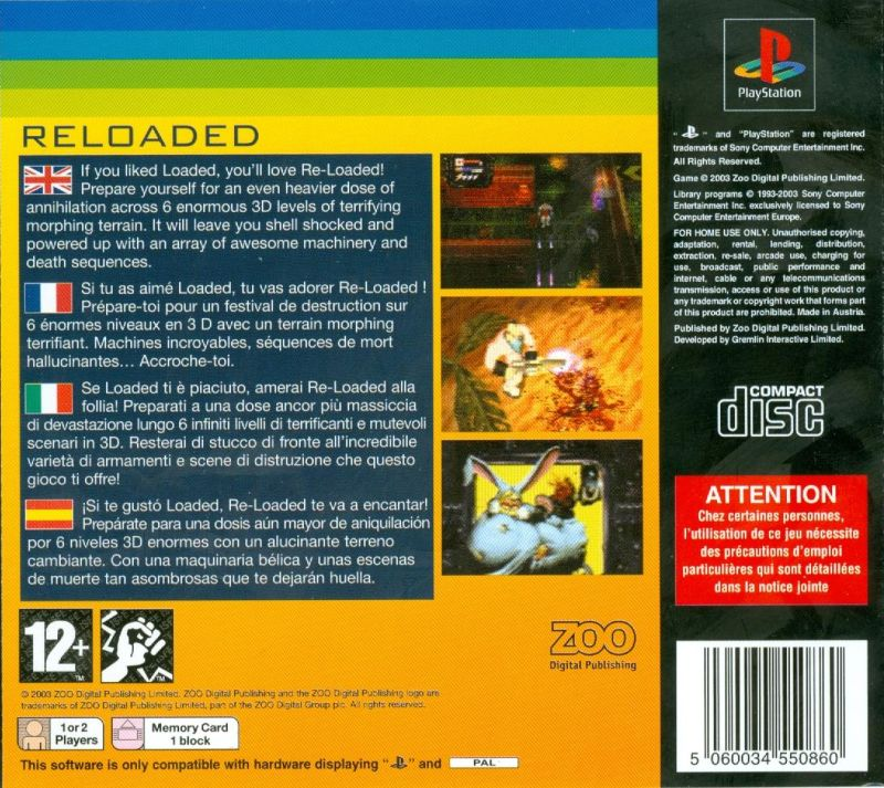 Re-Loaded PlayStation Back Cover