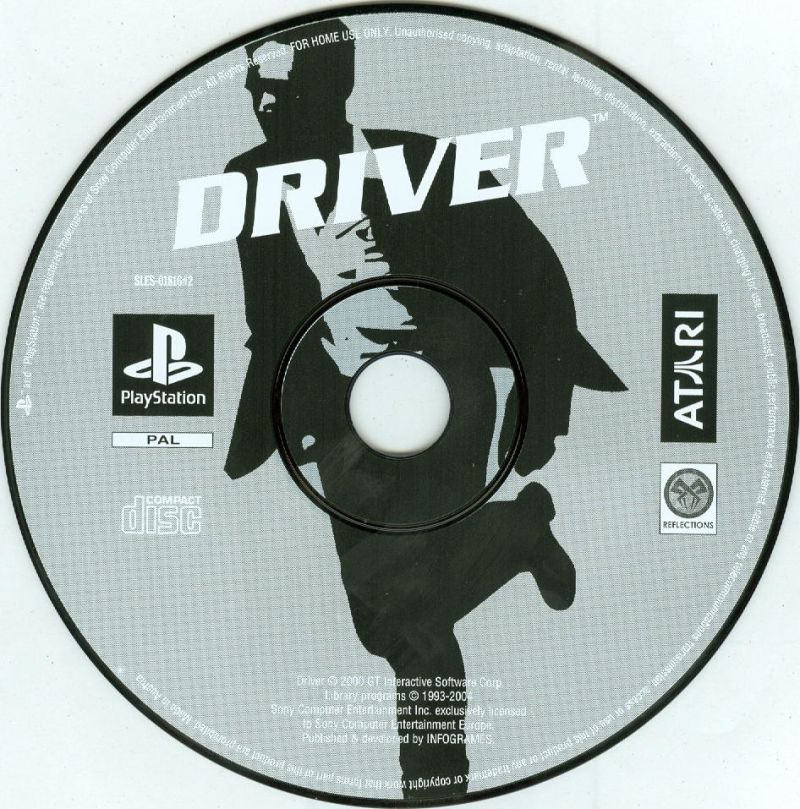 Driver / Driver 2 PlayStation Media <i>Driver</i> disc