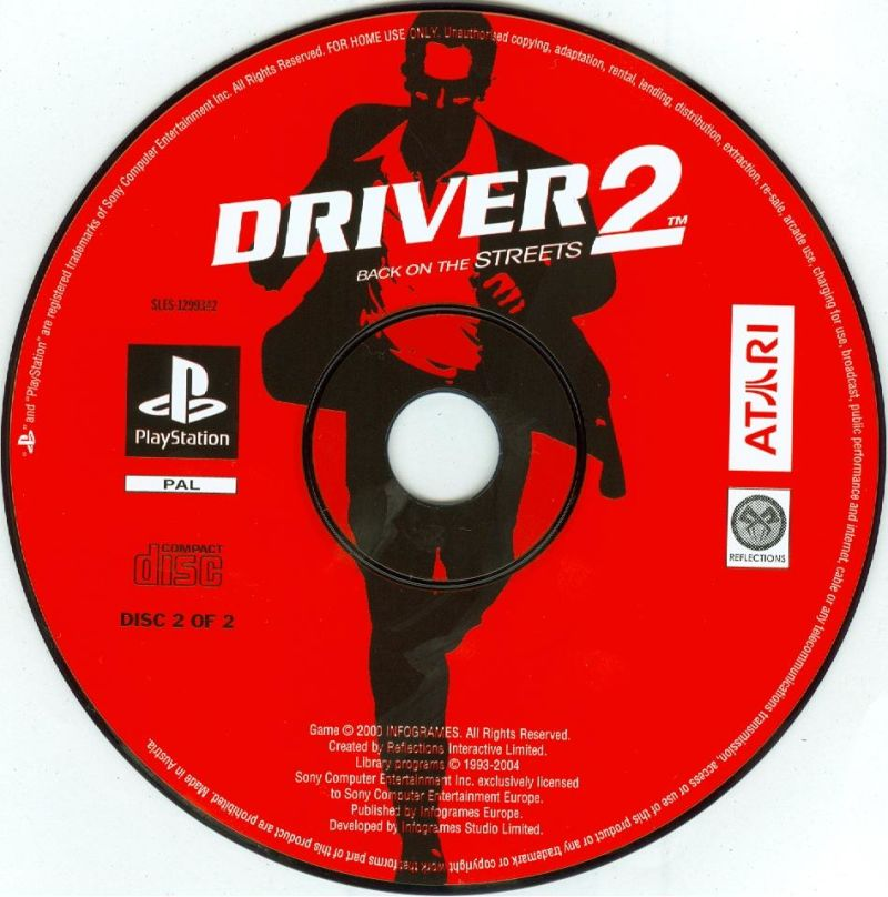 Driver / Driver 2 PlayStation Media <i>Driver 2</i> disc 2/2