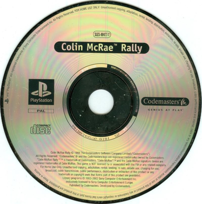 TOCA World Touring Cars / Colin McRae Rally PlayStation Media Colin Mcrae Rally