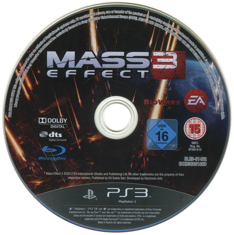 Mass Effect 3 (N7 Collector's Edition) PlayStation 3 Media