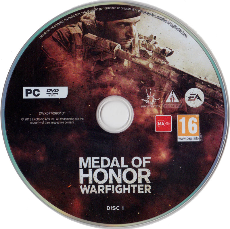 Medal of Honor: Warfighter (Limited Edition) Windows Media Disc 1/2