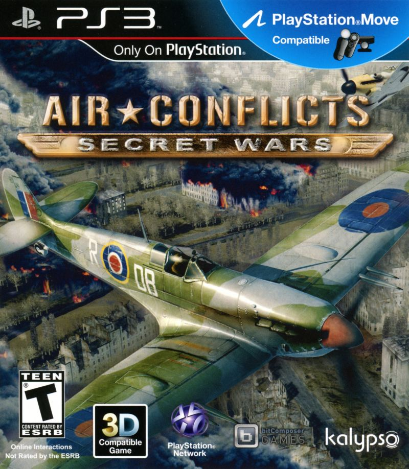 Air Conflicts: Secret Wars PlayStation 3 Front Cover