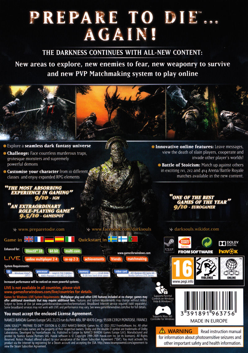 dark souls prepare to die edition 2012 playstation 3