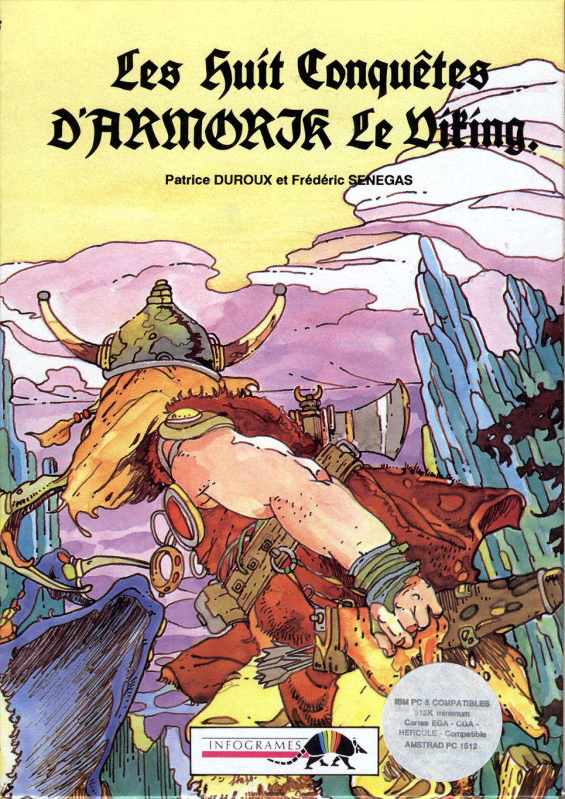 Armorik the Viking: The Eight Conquests DOS Front Cover