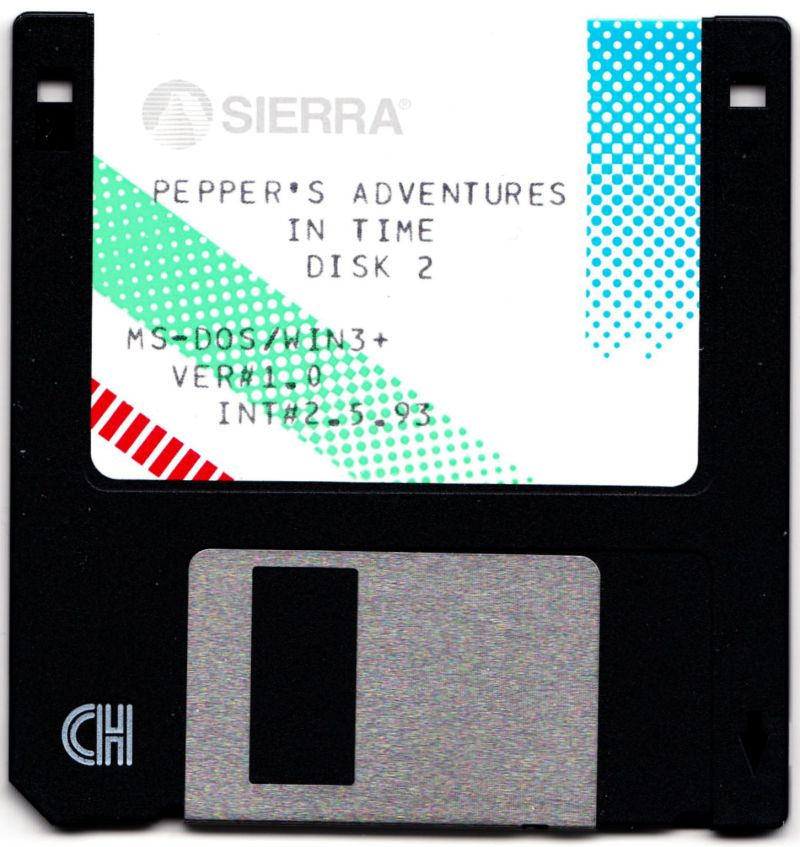 Pepper's Adventures in Time DOS Media 2/5