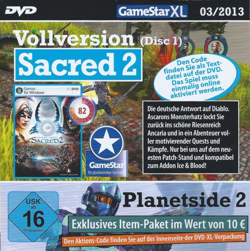 Sacred 2: Fallen Angel Windows Front Cover Disc 1