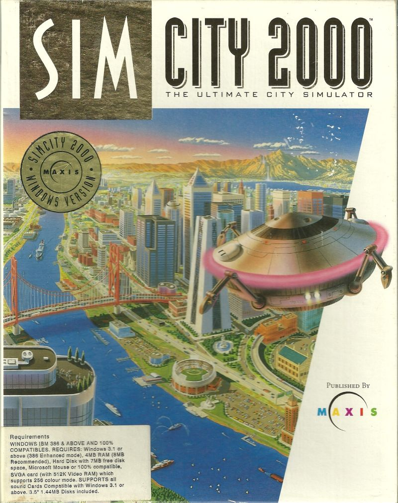 SimCity 2000 Windows 3.x Front Cover