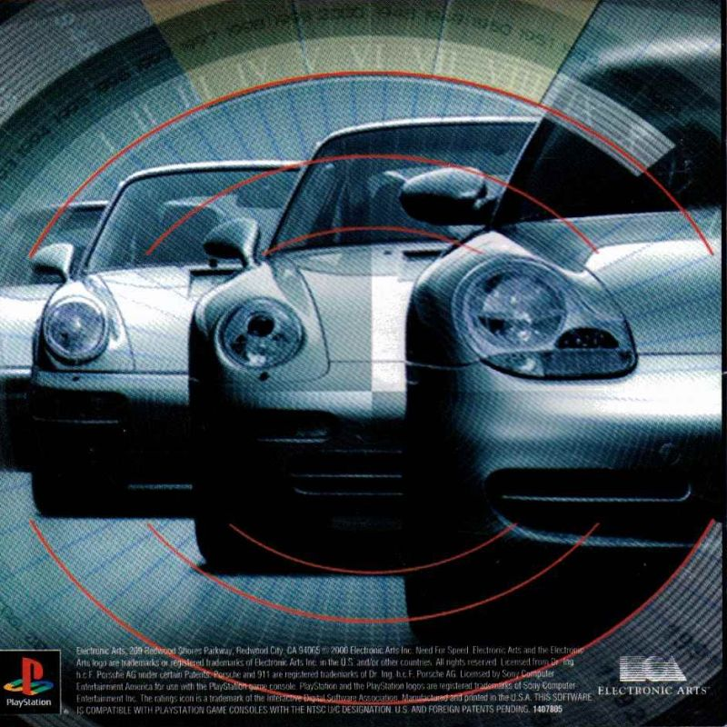 Need for Speed: Porsche Unleashed PlayStation Inside Cover