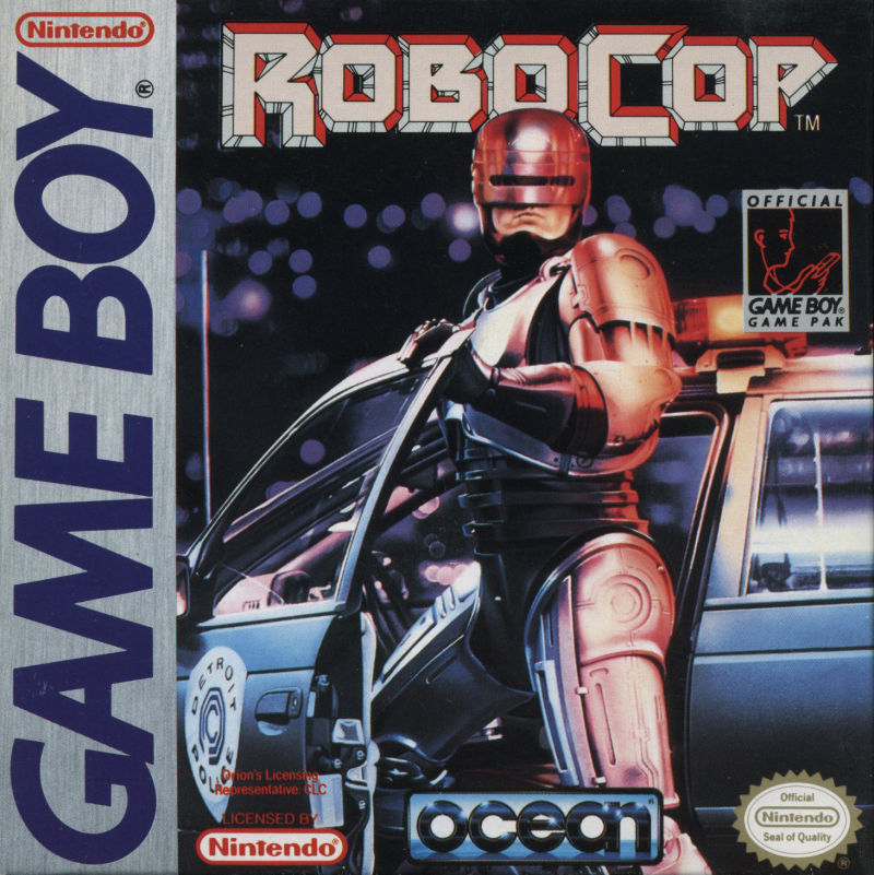 RoboCop Game Boy Front Cover