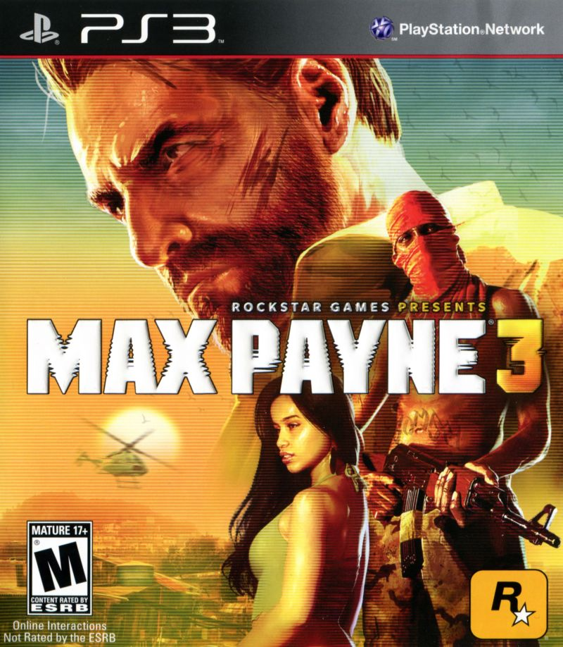 Max Payne 3 PlayStation 3 Front Cover