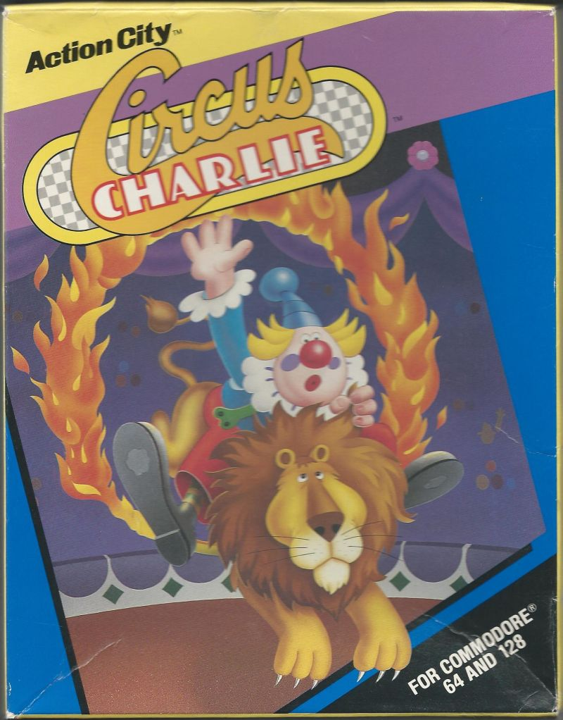 Circus Charlie Commodore 64 Front Cover